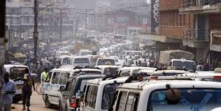 Stau in Kampala.